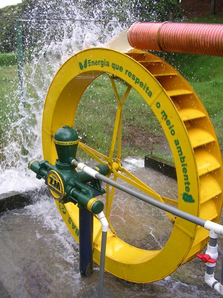 Roda d àgua ZM 51 com roda padrão 140x18