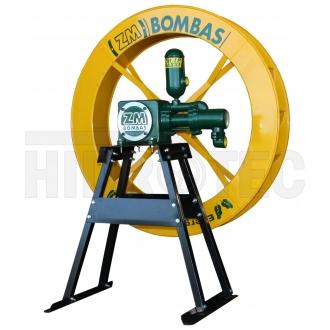Bomba ZM-1P-38 com roda d'água 1,00 x 0,15 (metros) + cavalete (suporte)